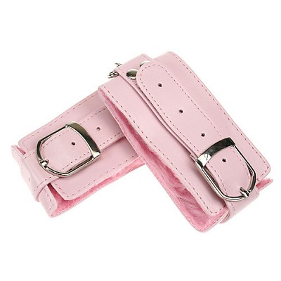 Naughty Grrl Toyz Pink Plush Cuffs