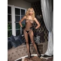 Crotchless Suspender Fishnet Bodystocking