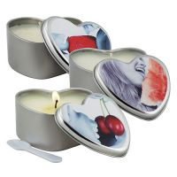 3 in 1 Edible Massage Heart Candle