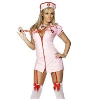 Pink Naughty Nurse Costume