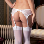 Lace Suspender Belt And Stockings