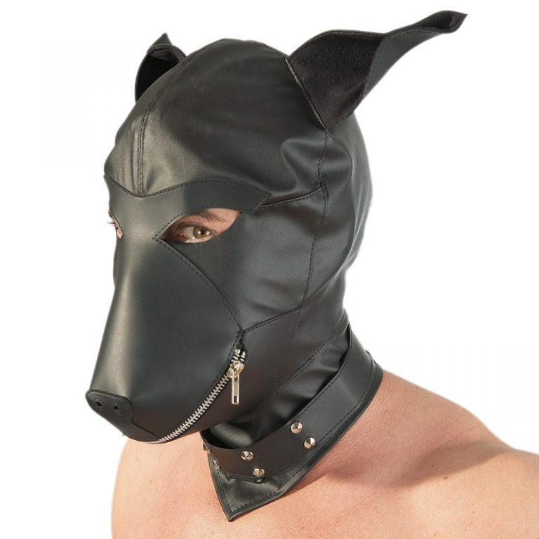 Imitation Leather Dog Mask