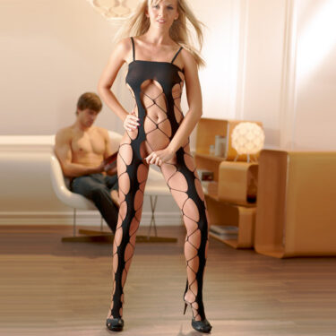 Cottelli Collection Netted Catsuit