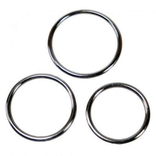 Triple Metal Cock Ring Set