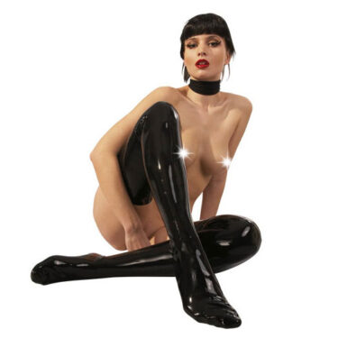 Latex Black Stockings