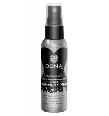 DONA Shimmer Spray Aphrodisiacs and Pheromone Seduce Me Silver