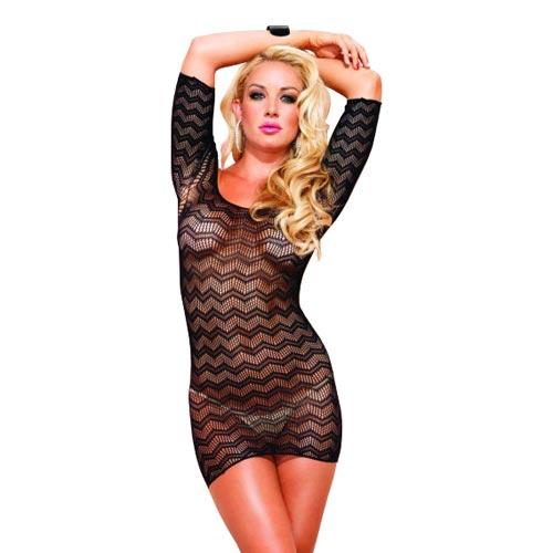 Leg Avenue Zig Zag Crochet Dress UK 8 to 14
