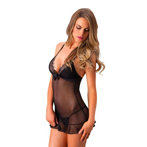 Leg Avenue Eyelash Lace Chemise  and  String