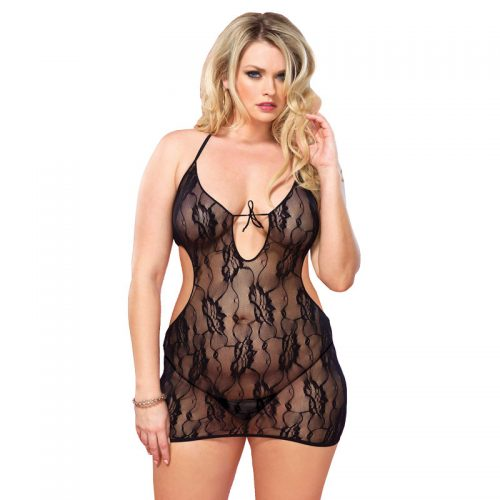 Leg Avenue Floral Lace Chemise UK 16 to 18