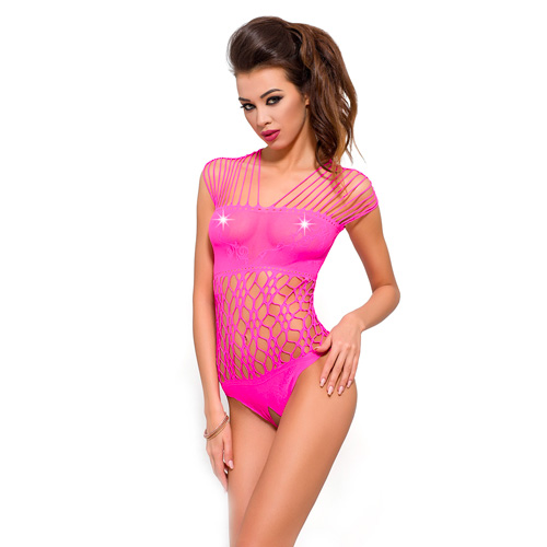 Passion Net Body Stocking Pink