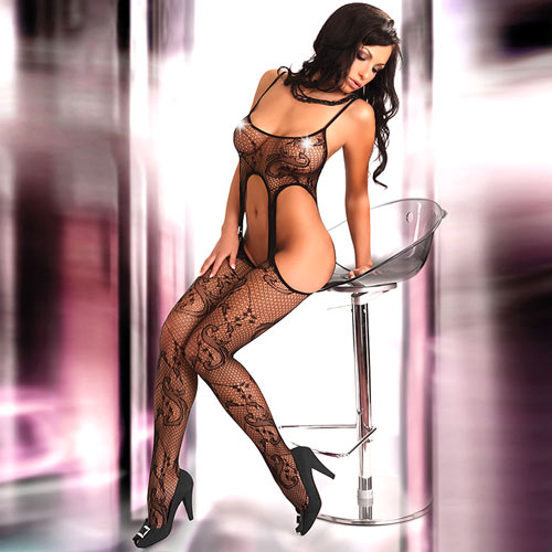 Corsetti Praline Body Stocking UK Size 8 to 12
