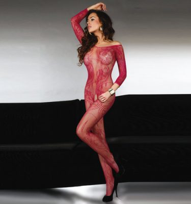 Corsetti Abra Bodystocking Maroon UK Size 8 to 12