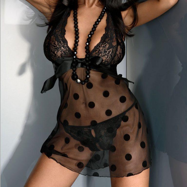 Corsetti Black Livia Lace Set