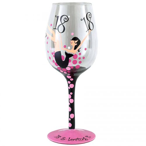 Tallulah Chic Wine Glass  Age 18