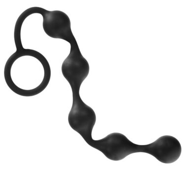 Onyx Silicone Anal Beads