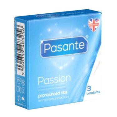 Pasante Ribbed Condoms 3 Pack