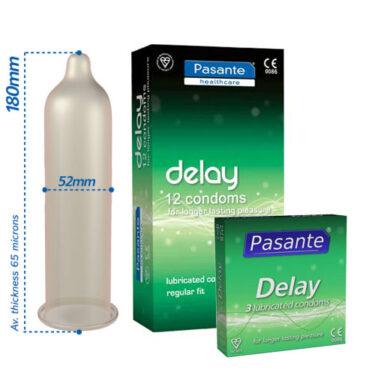 Pasante Delay Condoms 12 Pack