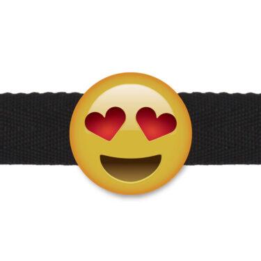 Emogag Heart Eye Emoji Ball Gag