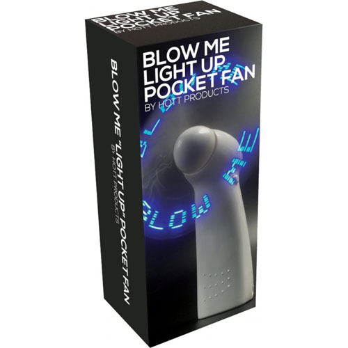 Blow Me Light Up Pocket Fan White
