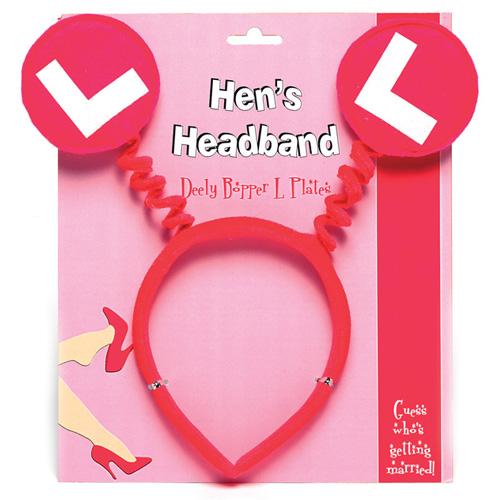 Hens L Plates Headband