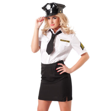 Skirt And Blouse Police Uniform With Hat