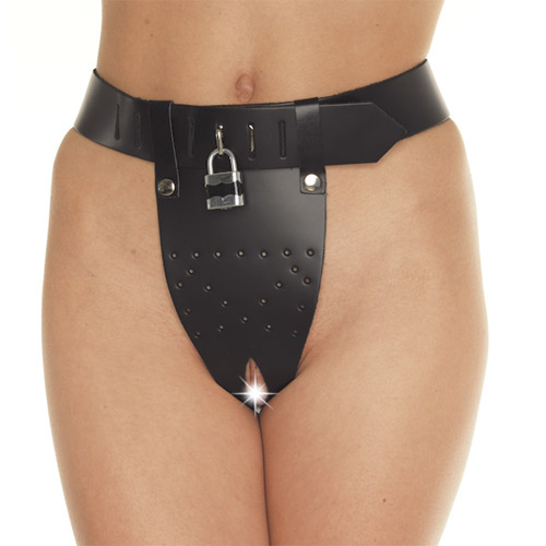 Leather Chastity Brief