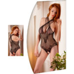 Lace Body Suit With Open Crotch