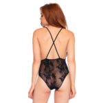 Leg Avenue Deep V Floral Lace Teddy UK 8 to 14