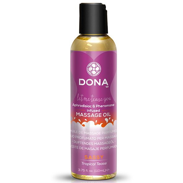 DONA Sassy Tropical Tease Massage Oil 110ml