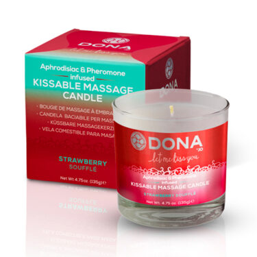 DONA Kissable Massage Candle Strawberry Souffle 135g