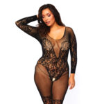 Leg Avenue Vine Lace And Net Bodystocking UK 16 to 18