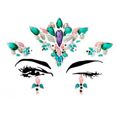 Ariel Face Jewels Sticker EYE007
